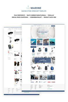 OpenCart Theme , Marine Store Responsive