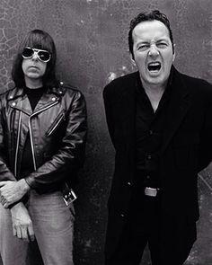 Heroes! Johnny Ramone and Joe Strummer.