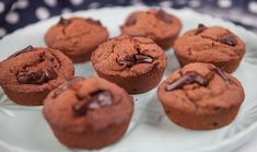 Double Chocolate and Quinoa Muffins Quinoa Muffins, Chocolate Muffins, Gluten Free Chocolate, Puffed Quinoa, Healthy Sweets, Dessert Recipes, Desserts, Dairy Free, Yummy Food