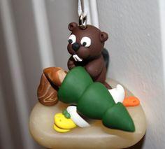 Custom Made - Personalized Oregon State Beavers vs Oregon Ducks Christmas Ornament