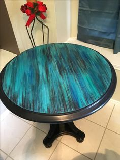Hand Painted Table for sale! Diy Furniture Projects, Furniture Makeover, Furniture Decor, Furniture Design, Funky Painted Furniture, Refurbished Furniture, Upcycled Furniture, Muebles Shabby Chic, Diy Möbelprojekte