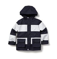Kids Toddler Boy Striped Raincoat