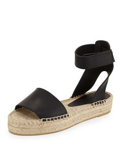 great great great!  RXCEPT THEY ARE $275.00  Edie Platform Espadrille Sandal, Black by Vince at Bergdorf Goodman.