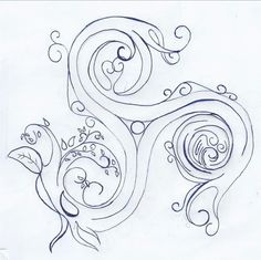 triskelion tattoo drawing