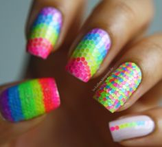 Lackaffen: Neon Mermaid #nail #nails #nailart