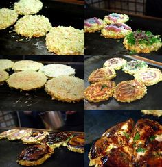 Vegan Okonomiyaki (aka Japanese Vegetable Pancake), As You Like It – the taste space Vegan Japanese Food, Japanese Dishes, Japanese Pancake, Japanese Menu, Vegan Vegetarian, Vegetarian Recipes, Cooking Recipes, Vegan Food, Crepes