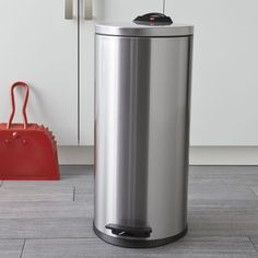 Hailo Tall Trash Can    Crate and Barrel