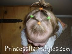 cute ponytails toddler hairstyle