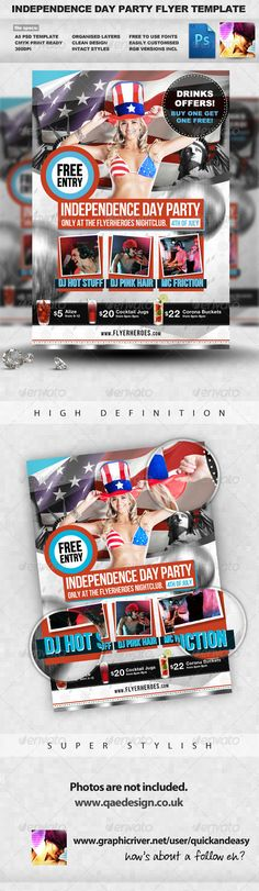 American Independence Day Patriotic Background Independence day - independence day flyer