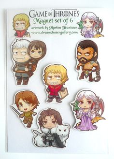 Game of Thrones Magnet set of 6