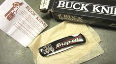 Buck 525 USA1992 Snap On Tools Truck Ad Gent Lock Back Blade Vtg Pocket Knife #Buck All Tools, Knives, Blade, Trucks, Pocket, Usa, Truck, Knife Making, Knifes