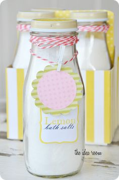 Homemade Bath Salts Recipe and gift set idea via Amy Huntley {The Idea Room}