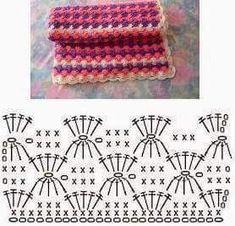 Free Crochet Stitches ⋆ Page 8 of 31 ⋆ Crochet Kingdom Crochet Stitches Chart, Crochet Motifs, Crochet Diagram, Knitting Stitches, Crochet Patterns, Knitting Patterns, Crochet Diy, Love Crochet, Crochet Projects