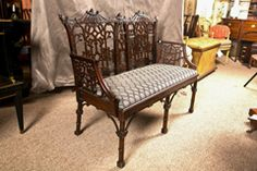Antique Chinese Chippendale Settee - Canape thumbnail 6