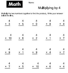Times tables, Worksheets and Multiplication tables on Pinterest
