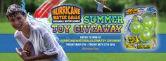 Summer Giveaway! Win 2 packs of Hurricane Water Balls all month long! Enter at http://hurricanewaterballs.com/toy-giveaway/