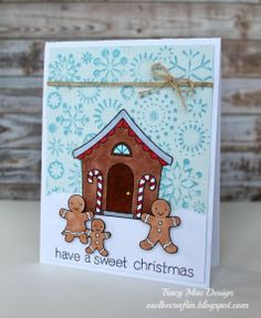 Super cute card from Tracy Mae Design: Core'dinations and Tombow Holiday Hop!! @Paula mcr Pederson USA