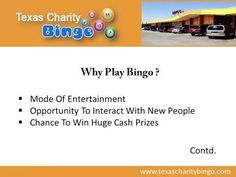 If you are looking for bingo games in Texas, consider REDMEN Bingo - a leading bingo hall offering an array of fun filled games to the bingo lovers across the city. The bingo hall offers a safe and clean environment to all its bingo players in Killeen. The games offered range from paper bingo to themed bingo. For more information, visit : http://www.texascharitybingo.com