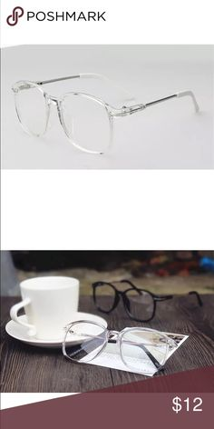 crystal clear transparent vintage oversize glasses Brand new crystal clear transparent vintage big oversized frame eyeglasses lens these are very fashionable and trendy...the lenses have a cool,colorful reflection shine...Cheaper on my website www.fashionistadujour.com or Paypal also can be purchased on eBay Stores.ebay.com/fashionistadujour/ Accessories Glasses