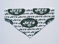 Jets Football Dog Bandana Dog Costume Sports by CookiesDogHouse