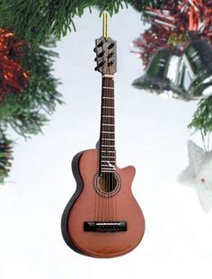 Music Treasures Co. Brown String Guitar Christmas Ornament ** For more information, visit image link.