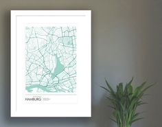 www.edition28.de   Poster Hamburg Innenstadt ca. 21x30 cm A4 von edition28 auf Etsy Centre, Card Sizes, Shades Of Green, Old Town, Postcards, Illustration, Great Gifts, Poster Prints, Old Things