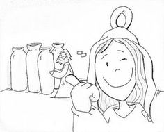 Jesus Turns Water into Wine: Sequence Coloring Pages | Bible ...