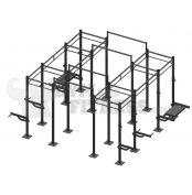 Crossfit Revolution Rack - 4x Chamber 4x Overpass 4x Wide Chins  PLEASE CONTACT US ON 1 800 614 491 FOR BULK PRICING AS IT WILL VARY BASED ON YOUR INDIVIDUAL REQUIREMENTS!!    Product Specifications:  - Includes 16x Uprights - Includes 16x Short Chin Up Bars - Includes 4x Long Chin Up Bars (allows more chin space and extra space between 2x chambers so both can be used with barbells effectively)   For more info visit: http://www.gymandfitness.com.au/crossfit-revolution-rack-set5.html