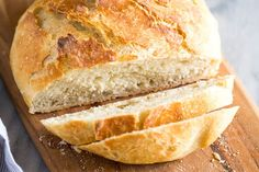 Quick and Easy No Knead Bread (Tastes Better From Scratch) Artisan Bread Recipes, Yeast Bread Recipes, Cornbread Recipes, Jiffy Cornbread, Easy Banana Bread, Easy Bread, Amish Bread, Slow Cooker Bread, Bread Dough Recipe