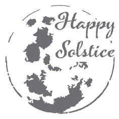 Happy Solstice on 6x6 laser cut stencil by PearlDesignStudio on Etsy