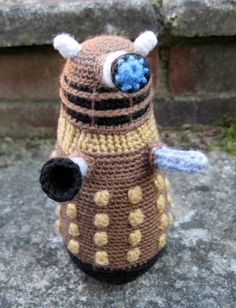 craft, diy, geeky, nerdy, crochet, Dalek, Doctor Who, stuffed animal
