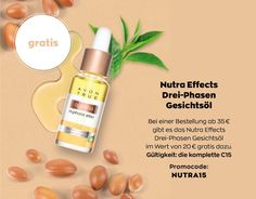 Nutra Effects Drei-Phasen Gesichtsöl gratis - Hanys Avon Shop Anti Aging, Serum, Shops, Shampoo, Shopping, Beauty, Face, Cash Register, Purchase Order