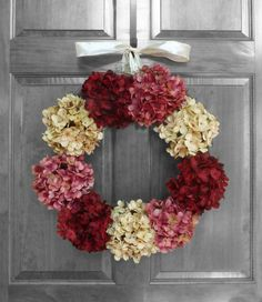 Elegant spring and summer hydrangea wreath!