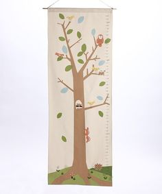 Take a look at this Pincushion Woodlands Organic Growth Chart by Forest Fun: Kids' Décor on #zulily today!