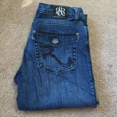 "Rock and Republic jeans Only worn once. Awesome jeans! Rock and Republic Kasandra jean. Slightly boot cut. Inseam 32"" Rock & Republic Jeans"