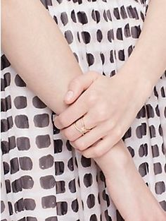 infinity & beyond pave knot ring by kate spade new york