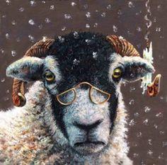 Screwege by Teresa Boast Illustrations, Illustration Art, Funny Animals, Cute Animals, Wooly Bully, Goat Art, Sheep Art, Sheep And Lamb, Watercolor Animals