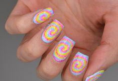 NAILS | BCD Nail Art Challenge Week 1 - Tie Dye