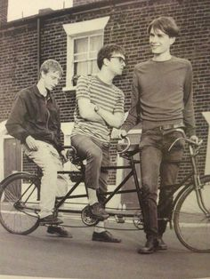 A bicycle built for three , Graham Coxon, Dave Rowntree and Alex James from Blur