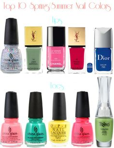 Top 10 Nail Polishes for Spring/Summer | Beauty Blogger Top Ten Tuesday