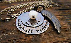 Personalized Necklace Mothers day Hand by OrganicRustCreation, $34.00