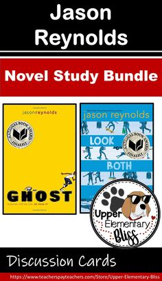 Novel study and discussion cards for Ghost and Look Both Ways by Jason Reynolds. Ela Classroom, Classroom Resources, Teacher Resources, Reading Resources, Reading Strategies, Middle School Novels, Interactive Read Aloud, 21st Century Learning, Reading Response