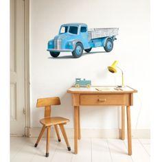 Wanted Wheels Grote muursticker - vintage pick-up truck - StudioZomooi