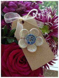 Ceramic flower brooch £5.99