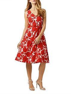 Poppy burnout dress