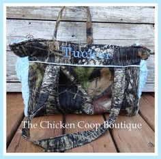 Boutique camo and minky diaper bag with lots of space  on Etsy, $65.00