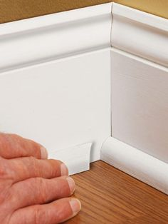 Baseboard styles modern with base molding ideas. Baseboard is the trim that goes along the wall bottom beside the flooring. Different baseboard styles. Baseboard Styles, Baseboard Molding, Floor Molding, Moldings And Trim, Baseboards, Wainscoting, Baseboard Ideas, Crown Moldings, Base Shoe Molding