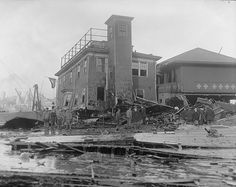 Boston's Great Molasses Flood of 1919. Fire House no. 31 damaged. by Boston Public Library, via Flickr