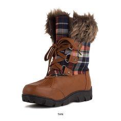 Nancy Plaid Mid-Calf Snow Boots - Assorted Colors