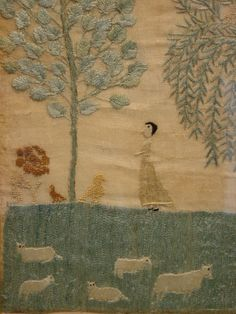 Louisa Milnor's 1816 - from Olde Hope at http://www.oldehope.com/needlework-picture/